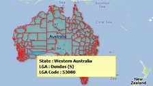 census data and demographics map of Australia