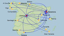 travel and flight route map