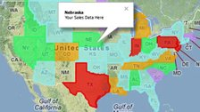 Overlay states on US Maps with colors and infobox